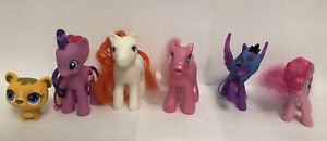 Lot of 6 My Little Pony Brushable Figures Princess Luna, Cupcake, Little Kitty