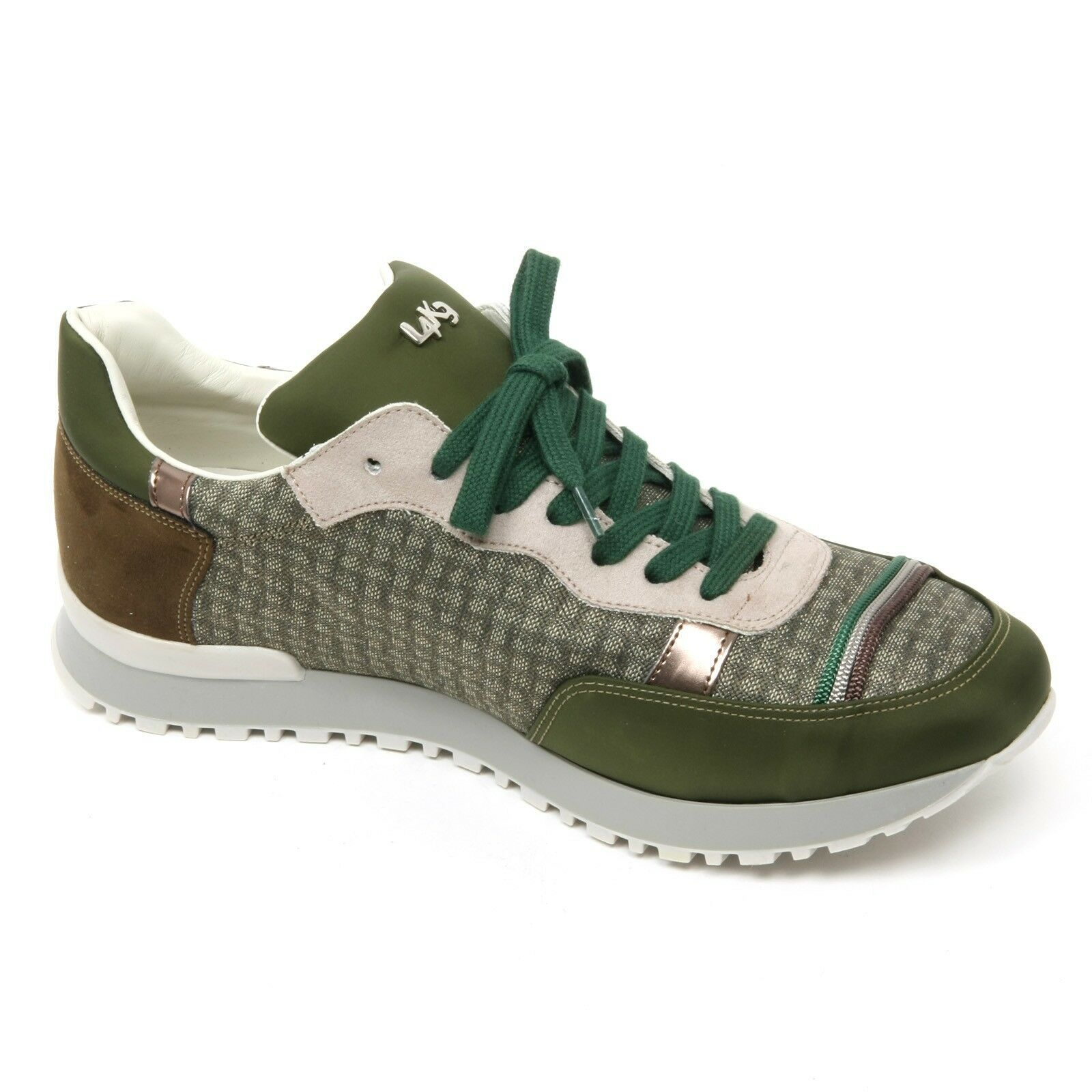 B9304 B9304 B9304 sneaker uomo L4K3 MR BIG scarpa quadretto verde/marrone shoe man 05af33