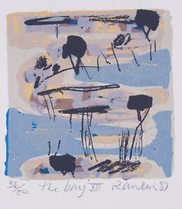 David-RANKIN-The-Bay-XII-Original-signed-screenprint-Abstract-ocean-seaside