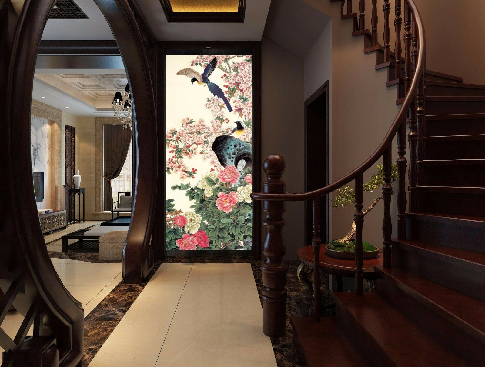 3D Various Flowers Birds 090 Paper Wall Print Wall Decal Wall Deco Indoor Murals