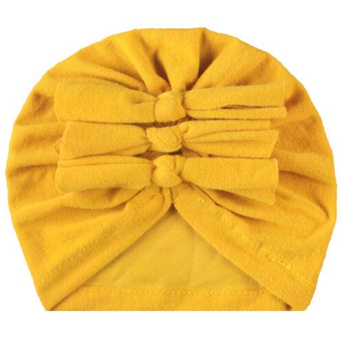 11 Colors Baby Children Bow knot Turban Hats Infant Cotton Kids Beanie Baby Cap