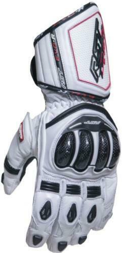 RST 2092 Tractech Evo R III 3 CE Approved Motorcycle Gloves Sport Race White