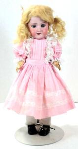 Antique-Armand-Marseille-390N-Doll-Pink-Dress-Germany-DRGM246-1-2-0M-Beautiful