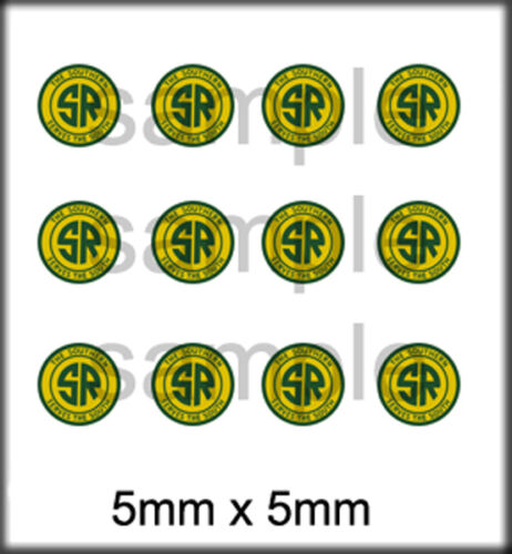 NEW PEEL AND STICK RPS BOLEY HO SCALE VEHICLE DOOR DECALS SOUTHERN RAILWAY