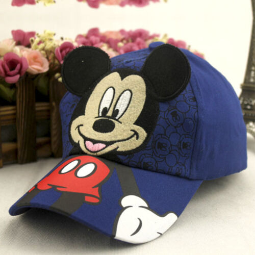 Baby Kids Mickey Mouse Baseball Caps Boy Girl Hip Hop Adjustable Casual Sun Hats