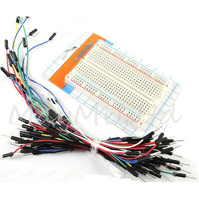 Prototype board Electronic deck + 65pcs Breadboard tie line Wire cable BH