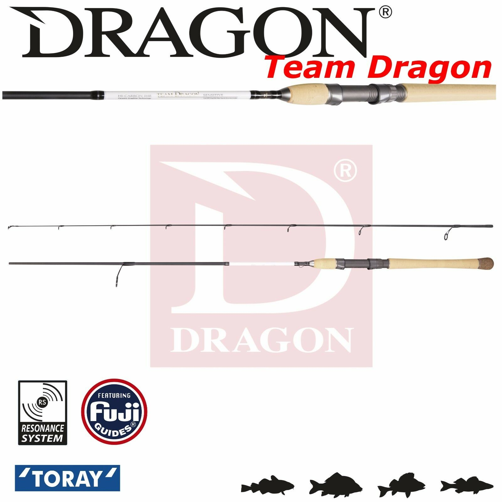 Lure Spinning Rod Team Dragon Wobbler  8' 2,45m 18-42g Fast Action Medium Power  is discounted