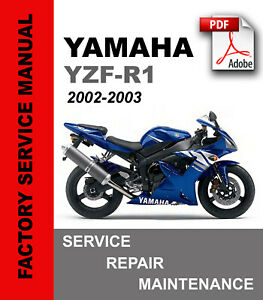 Details about Yamaha R1 YZF-R1 2002 2003 Service Repair Maintenance Manual  + Parts Catalog