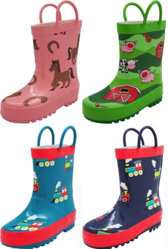 Little Big Kids Boys Girls Waterproof Rubber Rain Boots Norty New Toddlers