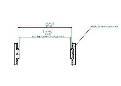 "RCB1067-S 2U 19/"" or 23/"" Server Rack rear mount brackets 1 pair New"