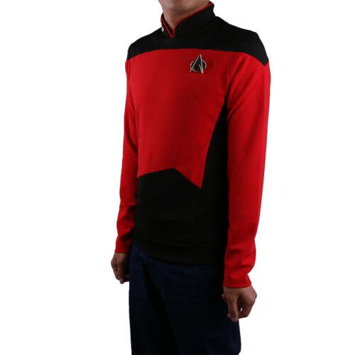 Star Trek TNG Uniform Cosplay Star Trek Red Shirt Starfleet Operations Uniforms