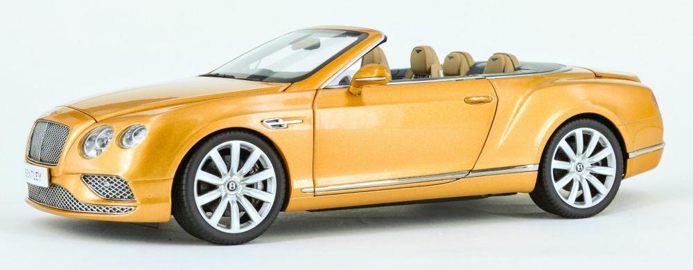 Paragon 98232R Bentley Continental GT Cabrio Cabrio Cabrio modellololo auto RHD oro 2016 1 18th 929c22