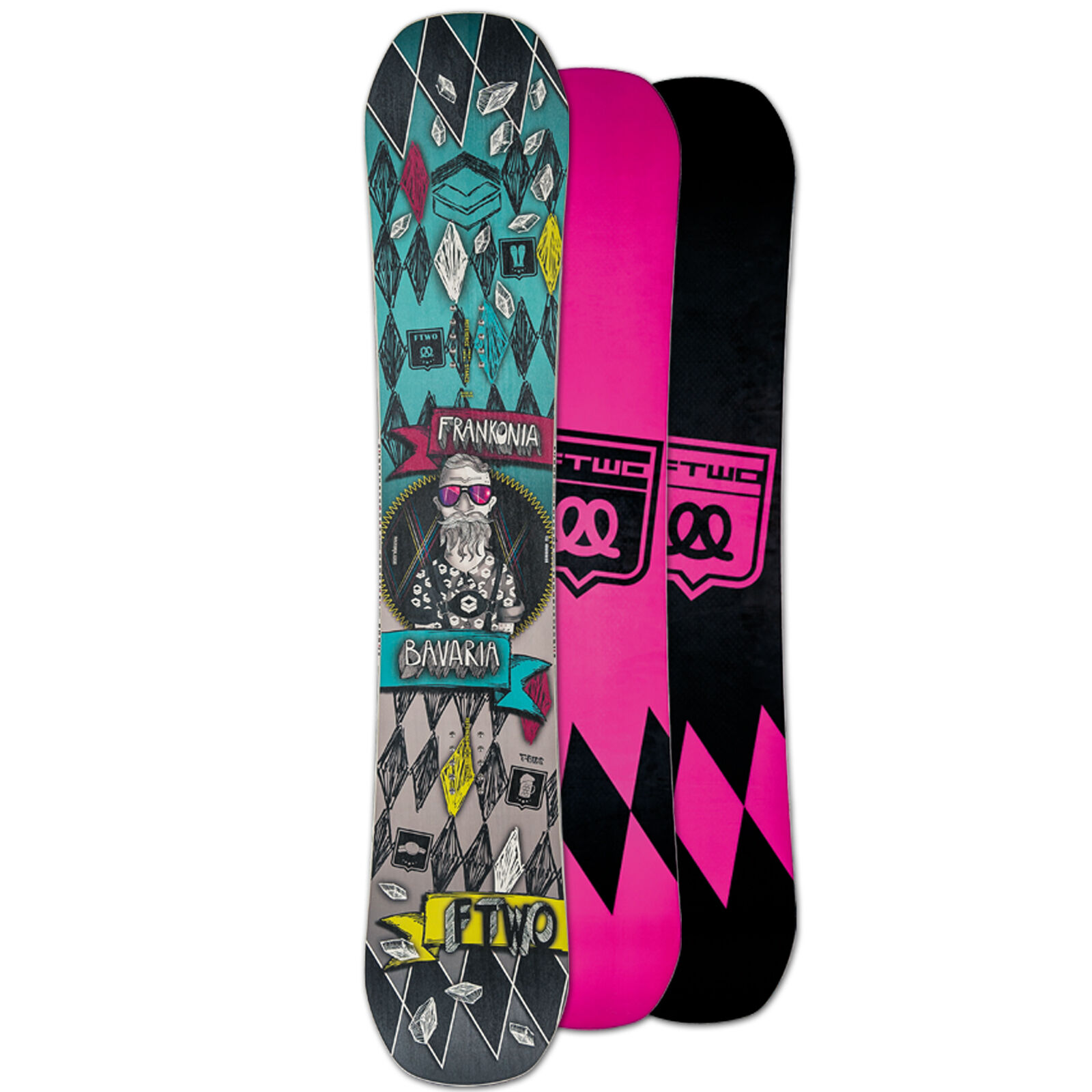 Ftwo Men's Freestyle Snowboard T-Ride One  148 cm Camber