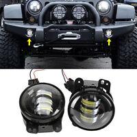 2x 4 Cree Led Fog Lights 60w Xenon White Pair For Jeep Wrangler Dodge Chrysler