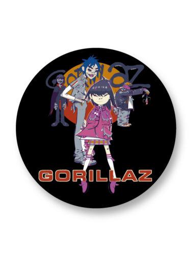 Porte clé Keychain Ø45mm Logo Gorillaz Groupe Bands Rock Trip Hop UK