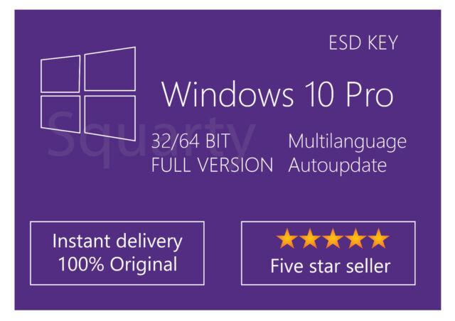 License/License Microsoft Windows 10 Pro 32/64 bit