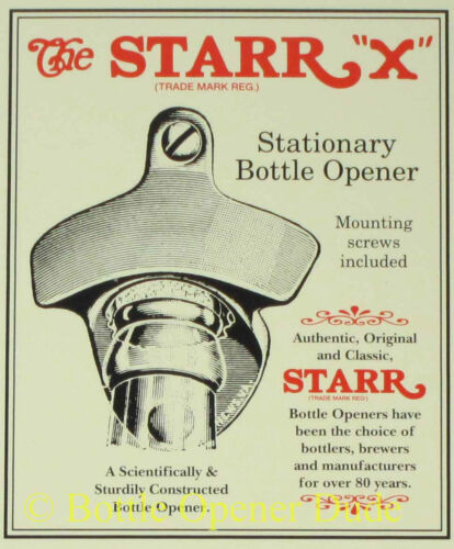 CORONA EXTRA Beer BOTTLE CAP Starr X Wall Mount Stationary Bottle Opener NEW!!!