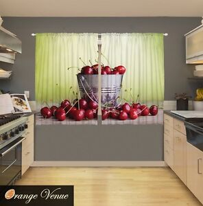 Pc Bushel Of Cherries Kitchen Panels