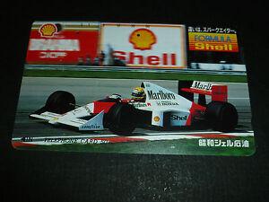 McLAREN-HONDA-1991-SHELL-1-AYRTON-SENNA-F1-CARTE-PHONE-CARD-TELECA-JAPAN-USED