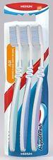 3x Aquafresh Flex Medium Adult Family Manual Oral Toothbrush Pack - FREE P&P