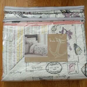 Nicole Miller Twin Quilt Sham Set At The Sea Coral Star
