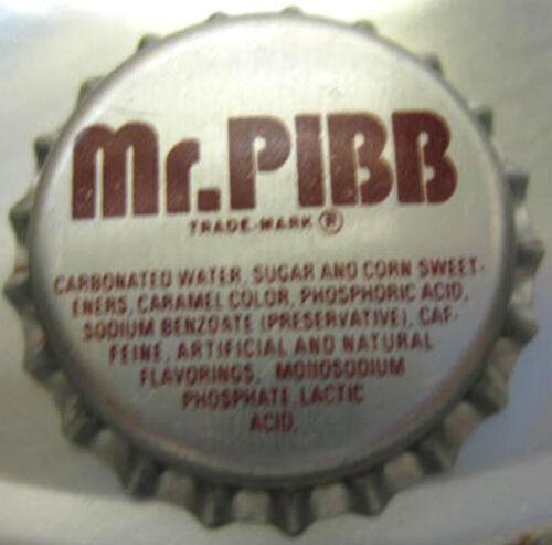MR Bottle CAP Thomasville PIBB unused Soda CROWN NORTH CAROLINA 27360