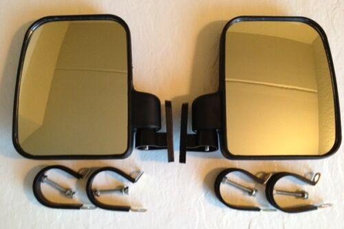 Heavy Duty Large Size Side View Mirror Set for Polaris RZR UTV
