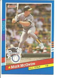 Details About 1990 Leaf 56 Mark Mcgwire Donruss All Star Baseball Card