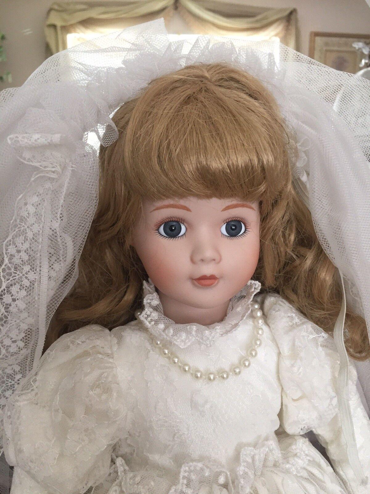 Beautiful  Vintage Porcelain Wedding bambola  risparmia il 60% di sconto