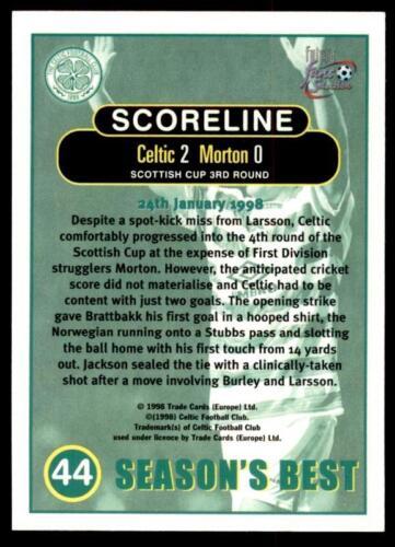 Chrome Futera Celtique Fans /'Selection 1997-1998 Celtic 2-Morton 0 #44