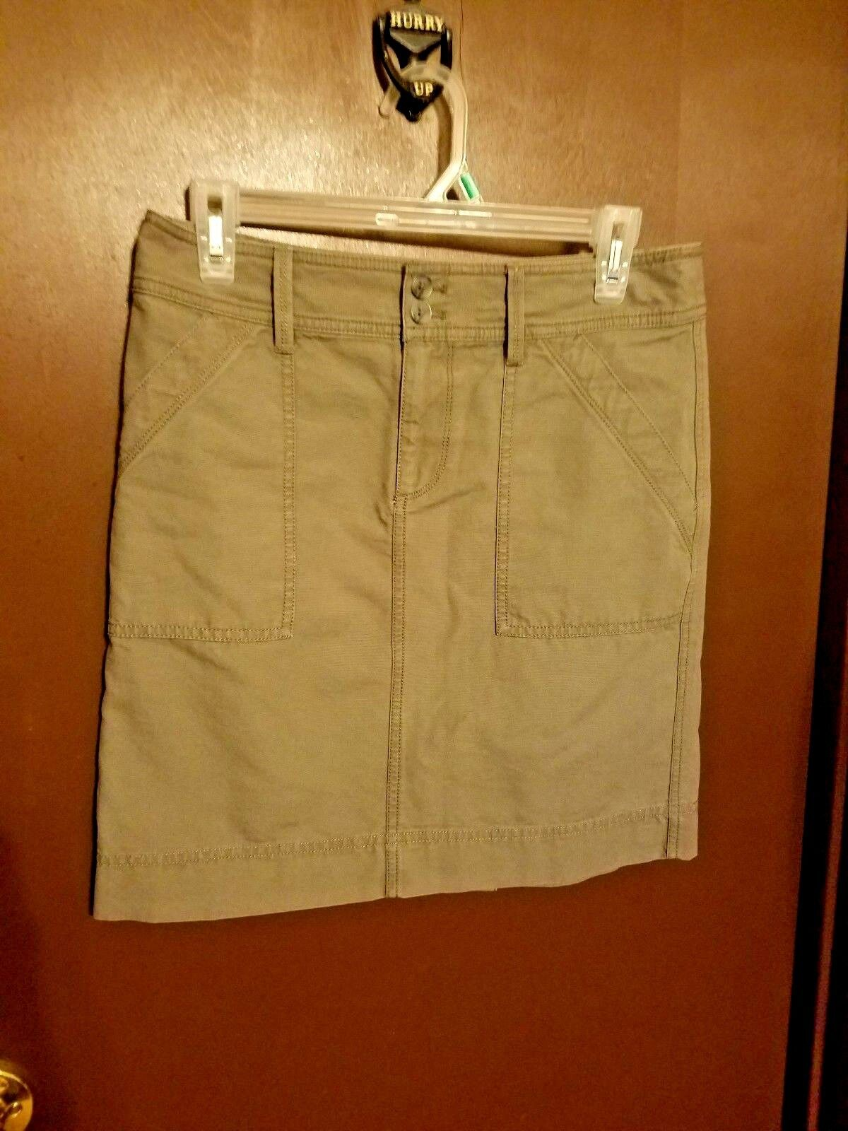 Ann Taylor LOFT Career Straight Pencil Skirt Khaki Beige Women Size 2 MSRP 49.50
