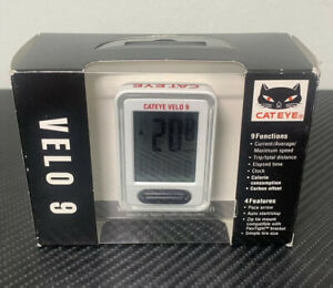 Cateye Velo 9 CC-VL820B Digital Function Wired Cycle Computer Black New in Box