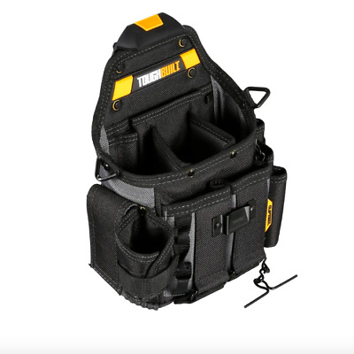 Toughbuilt Tool Parts Bag Storage Organizer Belt Pouch 20 Pockets Shoulder Strap