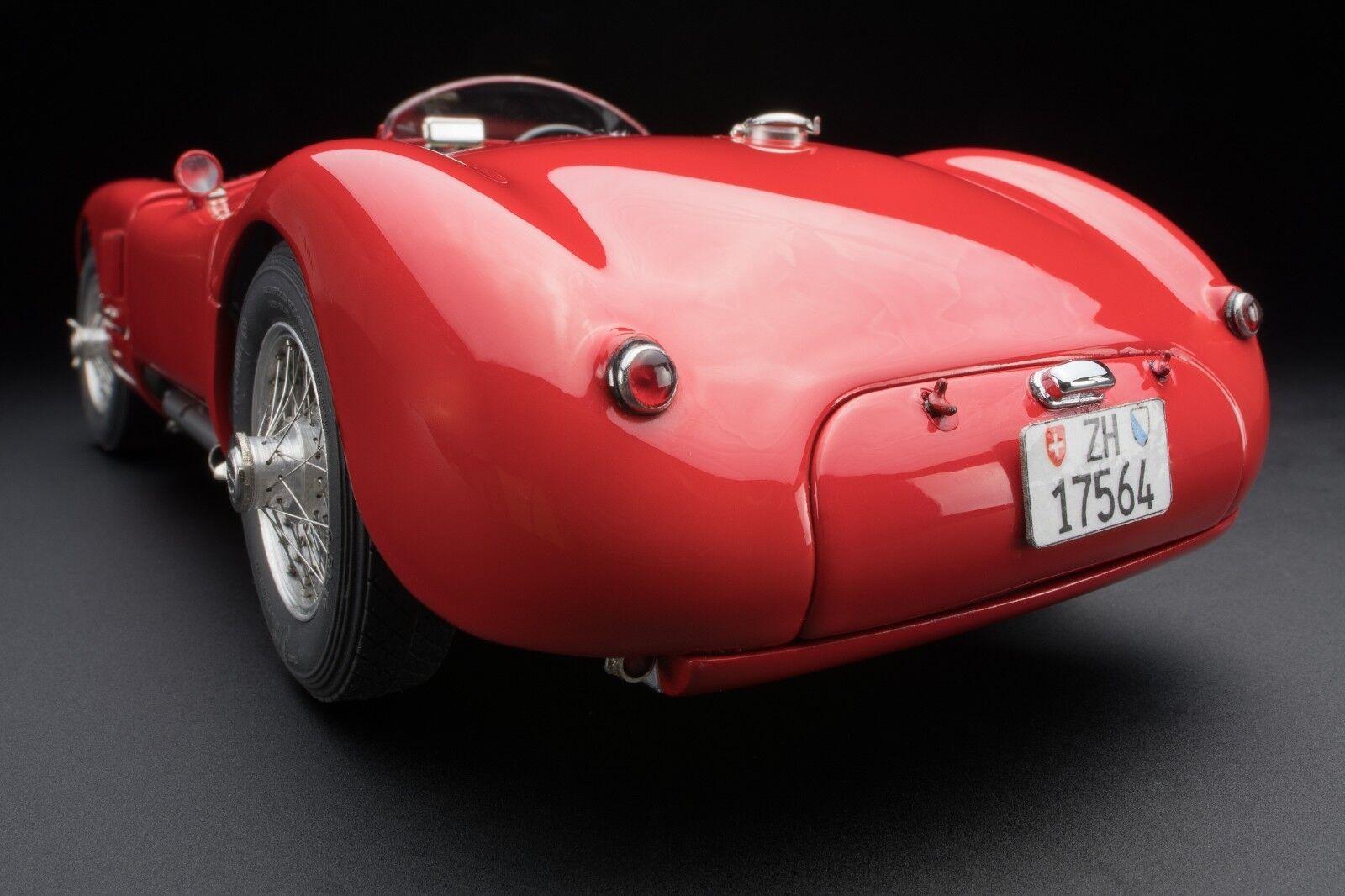 1952 Jaguar Type C en Foncé Rouge Moulage sous Pression par Cmc en 1 18 Echelle