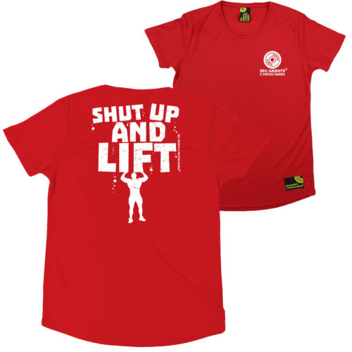 FB Gym Bodybuilding Ladies Tee Shut Up And Lift R Neck Dry Fit Sports T-Shirt