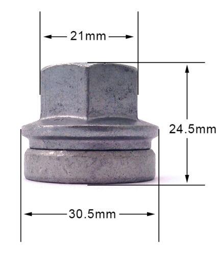 Tuercas de Rueda Lugs Pernos M14 X 2.0 21mm HEX PLANA Seat Ford Transit Mk6//7 X 20