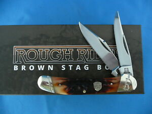 Rough-Rider-Brown-Stag-Bone-Copperhead-Knife-Stainless-Steel-RR1807