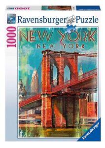 PATRICK REID O'BRIEN - RETRO NEW YORK - Ravensburger Puzzle 19835 - 1000 Pcs.