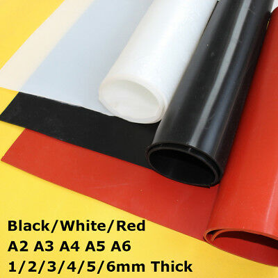 841mm x 594mm White Silicone Rubber Sheet 3mm thick Size A1