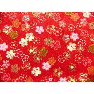 Crepe-coupon-chirimen-japanese-55x49cm-sakura-flower-red-30-c-kozakura