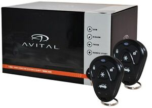 avital 5105 car remote start security keyless entry 1. Black Bedroom Furniture Sets. Home Design Ideas
