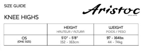 Aristoc Medium Support Knee Highs 15 Denier with Silk Finish 2 Pair Pack