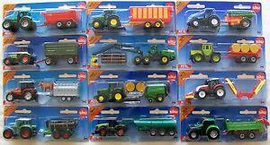 SIKU-blister-cardees-Miniature-Agricole-tracteurs-remorques-ou-accessoires