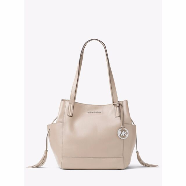 2caa7abba221 Michael Kors Ashbury Large Leather Shoulder Grab Bag Cement for sale ...
