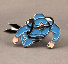 Metal Enamel Pin Badge Brooch Diver Scuba Diver Swim Snorkel Deep Sea Diving