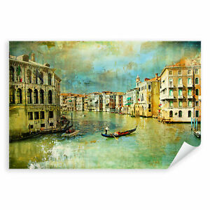 Italien Stadt Boote Kanal Architektur Postereck 2790 Poster Leinwand Venedig