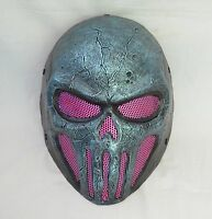 Paintball Bb Gun Airsoft Wire Mesh Full Face Protection Skull Mask