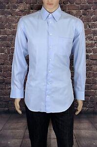 Armani-Collezioni-Size-39-151-2-R-Men-039-s-Dress-Shirt-Regular-Fit-L-Sleeve-100-Co