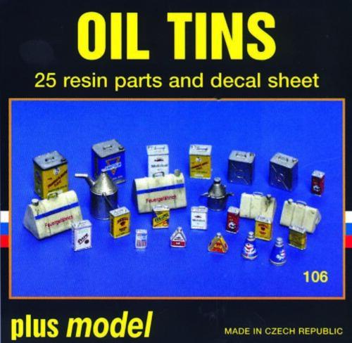 Plus Model 106-1:35 Resin Bausatz Ölblechdosen