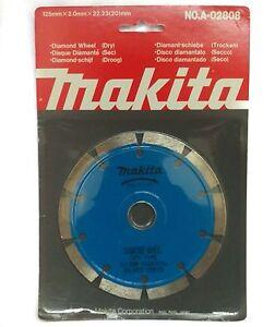 "Makita No. A-02808 125mm (5"") x 2.0mm x 22.23mm (7/8"") Diamond Wheel Rare"